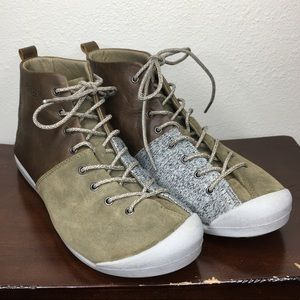 Keen East Side Bootie 9.5 Leather Boot Brown Gray